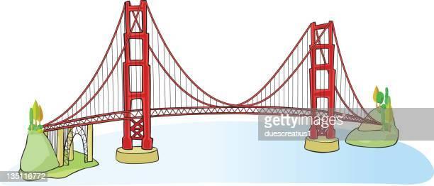 Dessin Du Pont De San Francisco illustrations et dessins animés de golden gate bridge  