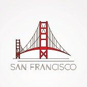 Golden Gate bridge - The symbol of US, San Francisco.