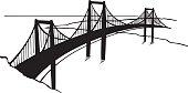 Golden Gate Bridge Vector Clipart
