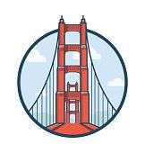 Golden Gate Bridge Vector Icon