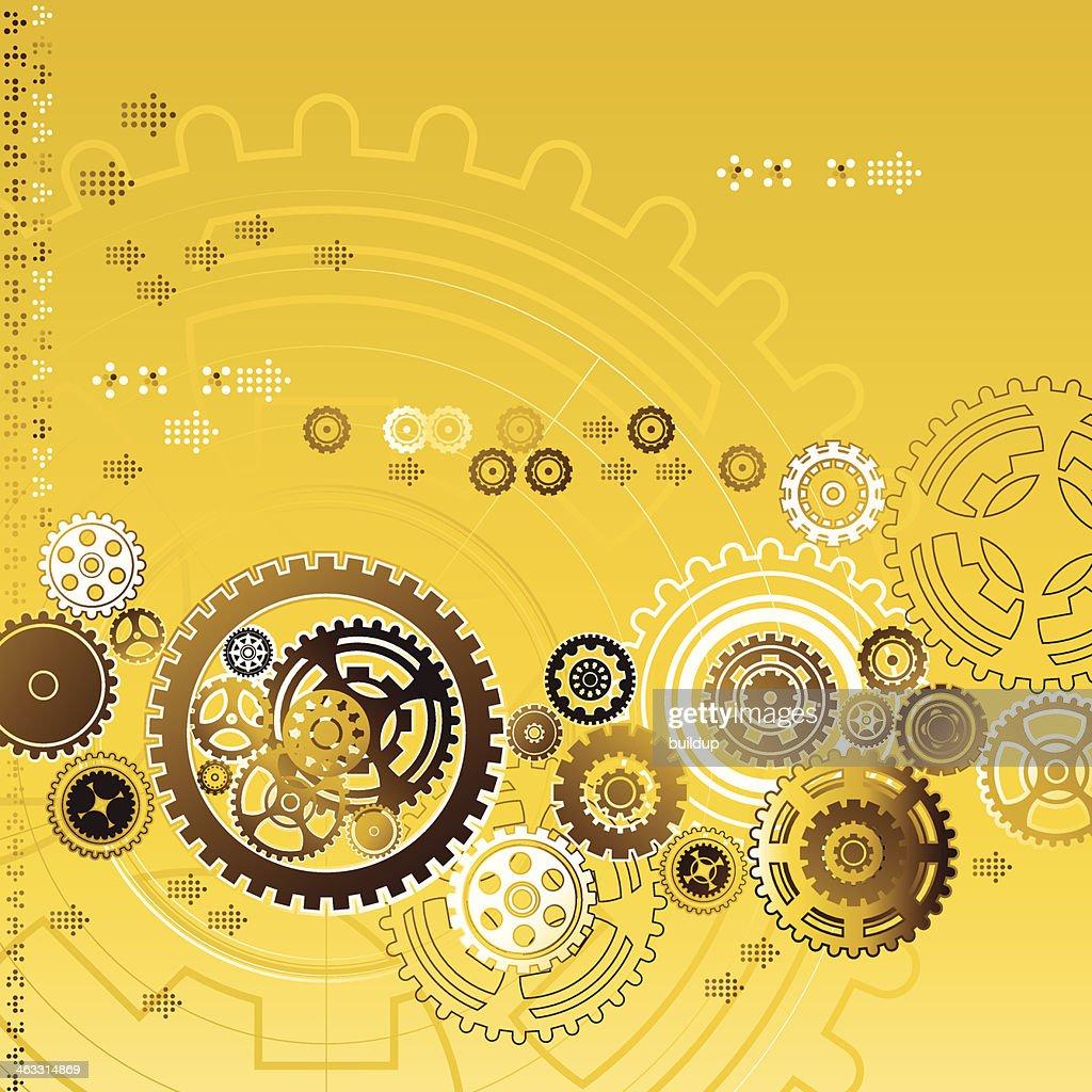 Golden Gear Background