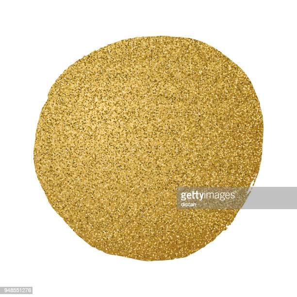 golden glitter circle - gold circle stock illustrations