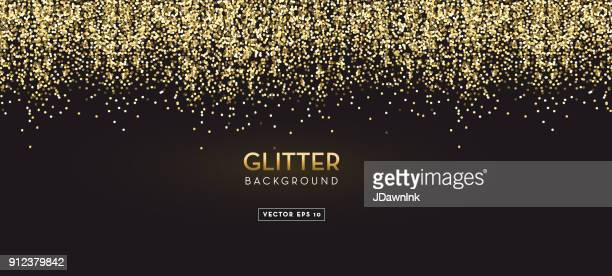 Golden Glitter design background