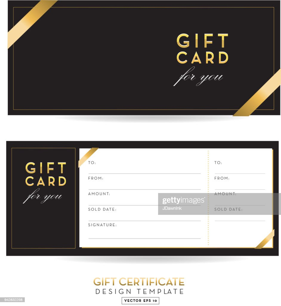 golden glitter gift certificate design background vector art getty