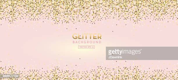 golden glitter on pastel pink design background - pink colour stock illustrations