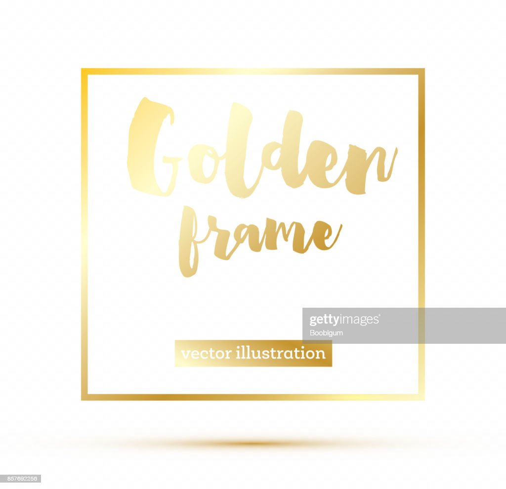 Golden Glowing Magic Square Frame On Transparent Background Vector ...