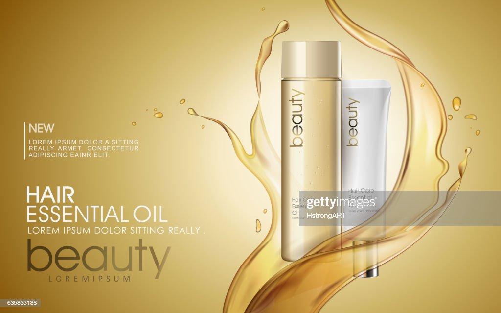 Golden hair oil ads