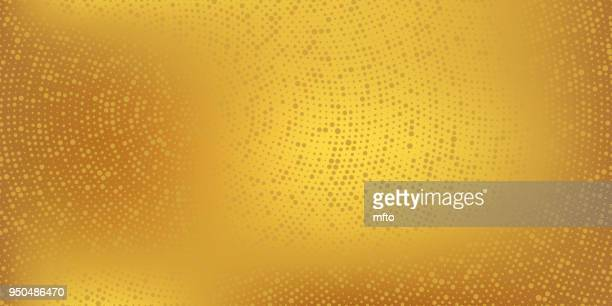 Golden halftone spotted background