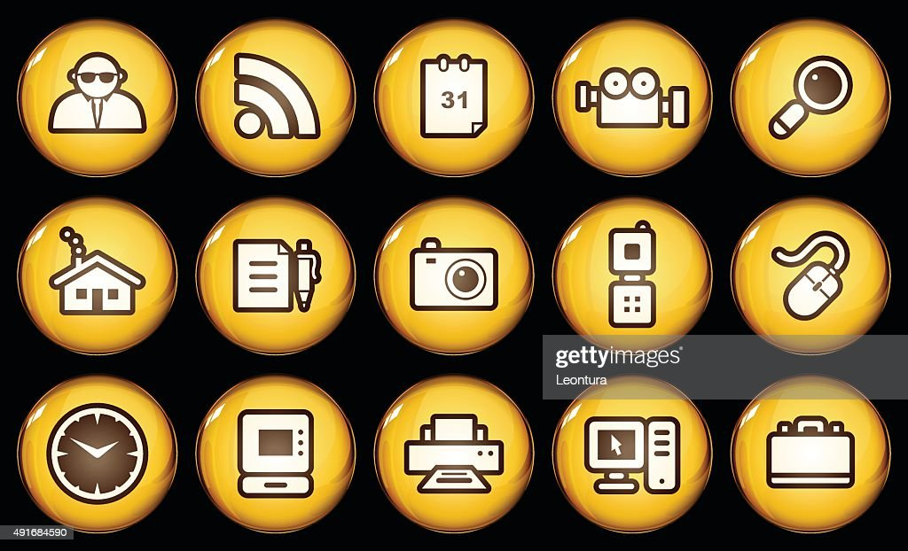 Golden Internet Icons