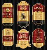 Golden labels retro collection