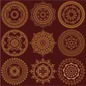 Golden Mandalas