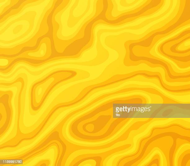 golden melted abstract background - lava stock illustrations