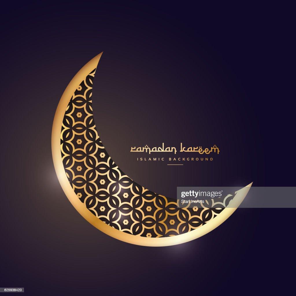 golden moon in dark background