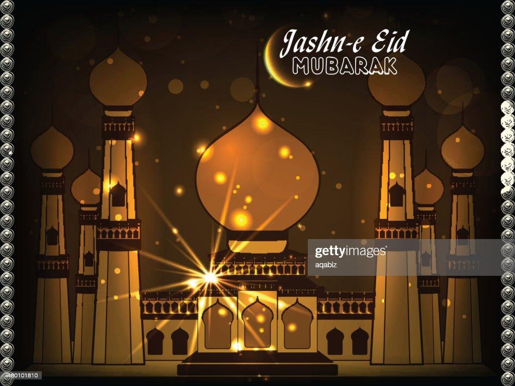 Golden mosque for Jashn-E-Eid Mubarak.