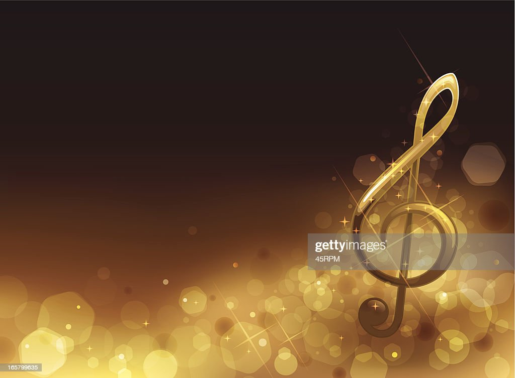 Golden Musical Background