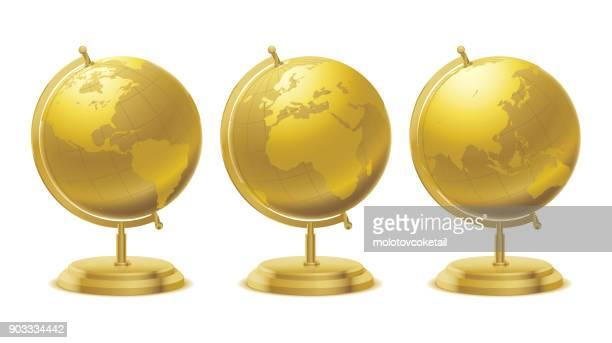 golden navigation globe
