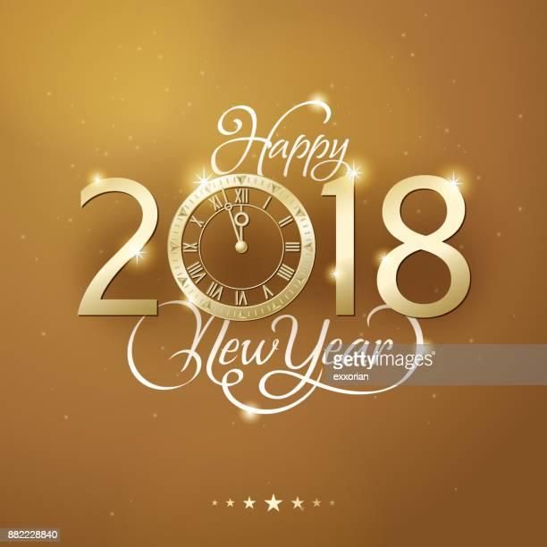 Golden New Year Countdown Invitation