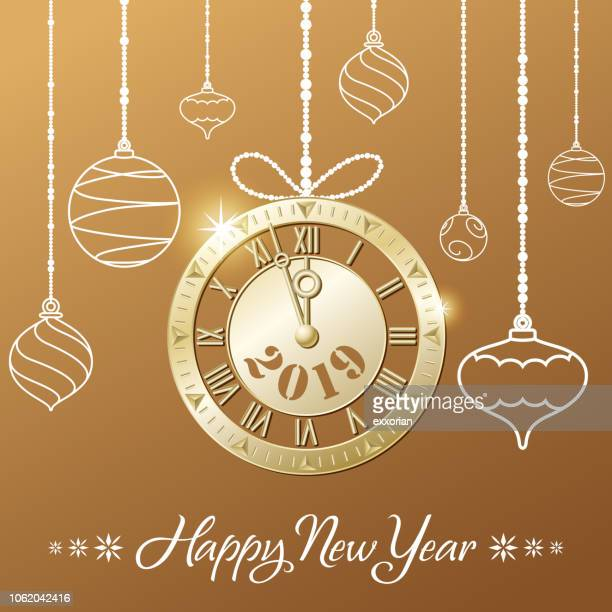 2019 golden new year countdown party - blink stock illustrations, clip art, cartoons, & icons