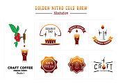 golden nitro cold brew illustration