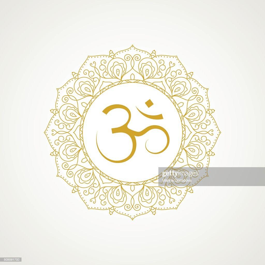 Golden Om Symbol In Vector Vector Art Getty Images