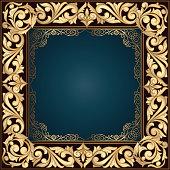 Golden ornate decorative vintage frame
