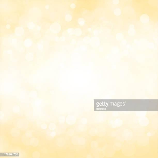 ゴールデン、淡い黄色と白色の輝く星空の輝くボケメリークリスマス、新年のお祝いの背景ストックベクトルイラスト。 - 発光点のイラスト素材/クリップアート素材/マンガ素材/アイコン素材