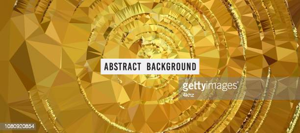 Golden Polygon Abstract Graphic Background