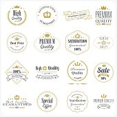 Golden premium quality stamps