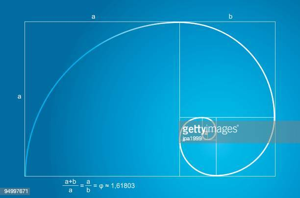 golden ratio - fractal stock illustrations