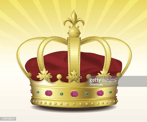 golden royal crown - queen royal person stock illustrations