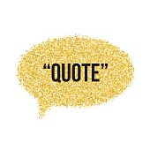 Golden sand speech bubble icon for text quote