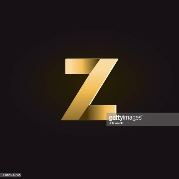 Golden shadows Alphabet lowercase letter
