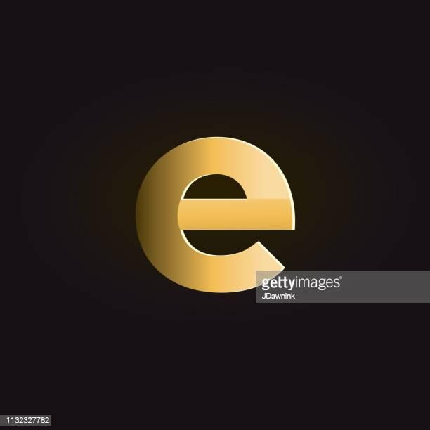 ilustraciones, imágenes clip art, dibujos animados e iconos de stock de sombras doradas letra minúscula del alfabeto - letrae