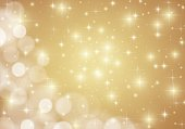 Golden shiny lights star background