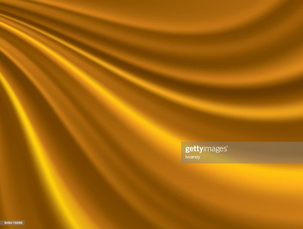 Golden silk background : stock illustration