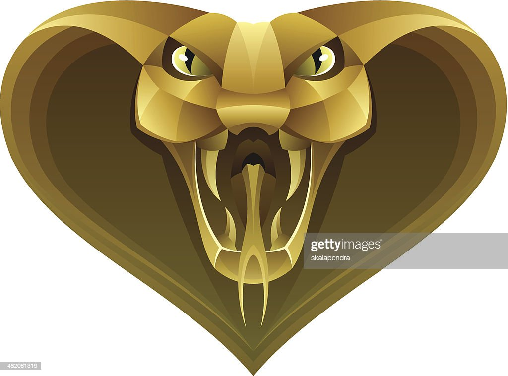 Golden snake head