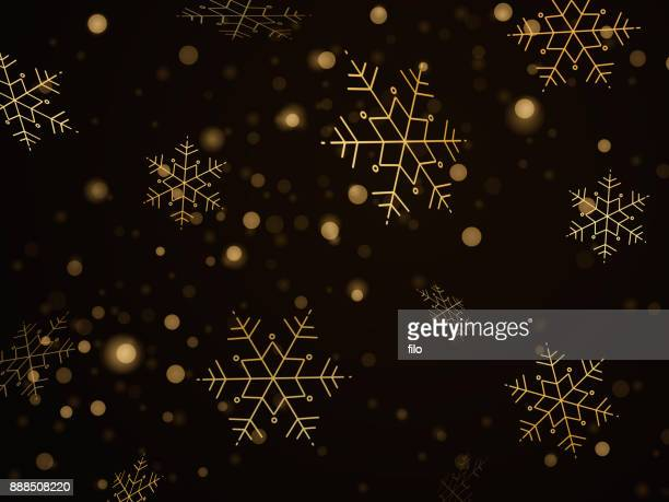 golden snowflake background - focus on background stock illustrations