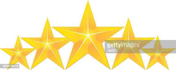 golden stars rating set - celebrities stock illustrations, clip art, cartoons, & icons