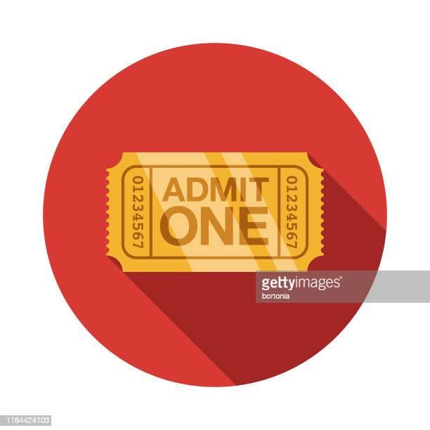 ilustraciones, imágenes clip art, dibujos animados e iconos de stock de icono del golden ticket award - entrada de cine