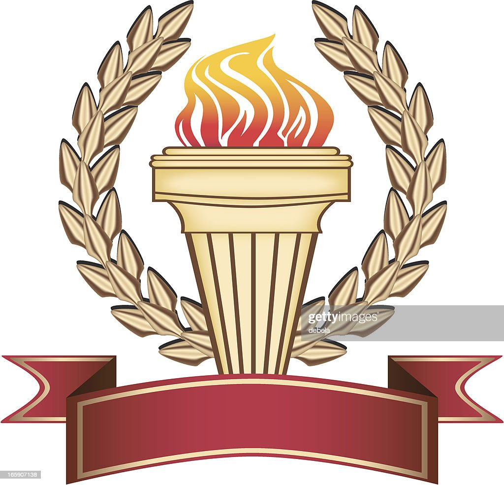 Golden . Torch : stock illustration