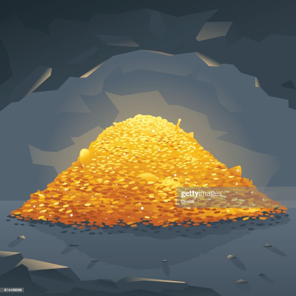 Golden Treasure in Cave
