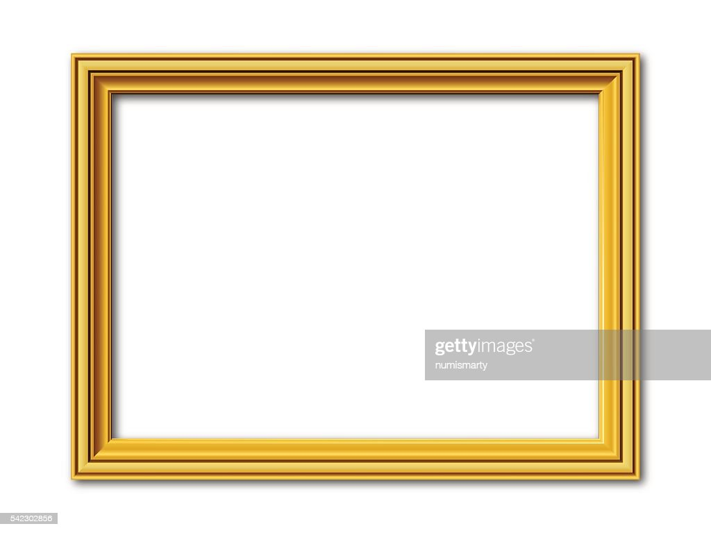 golden vector frame isolated on white