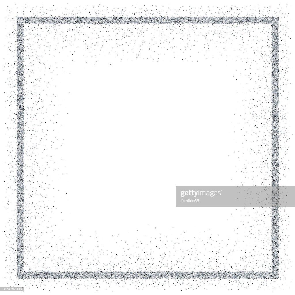 Golden vector glitter frame