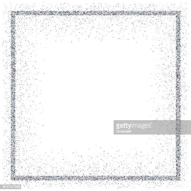 golden vector glitter frame - silver metal stock illustrations