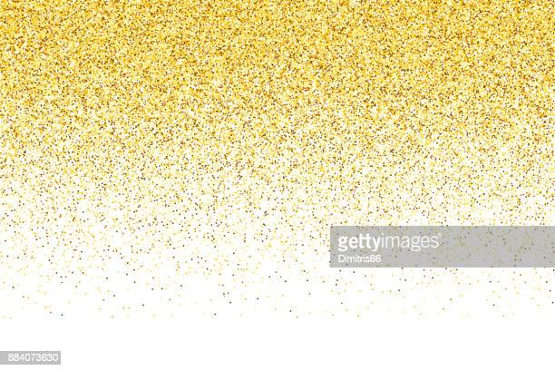 Golden vector glitter gradient background