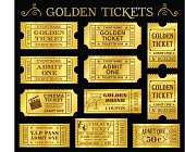 Golden Vector Ticket Templates