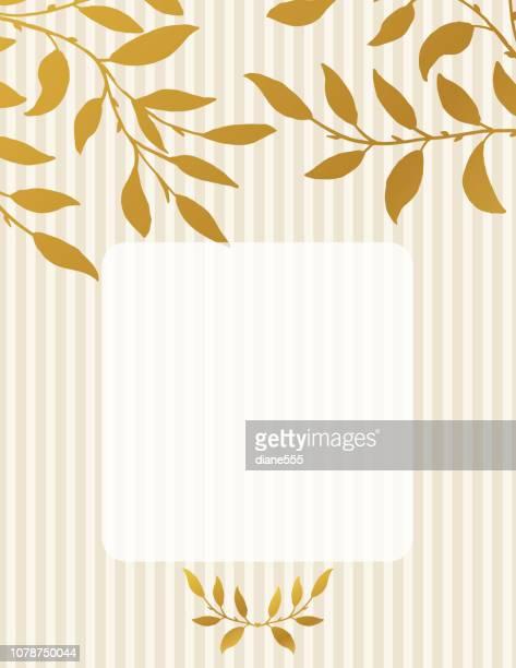 Golden Vines Invitation Template