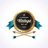 Golden Vintage Badge