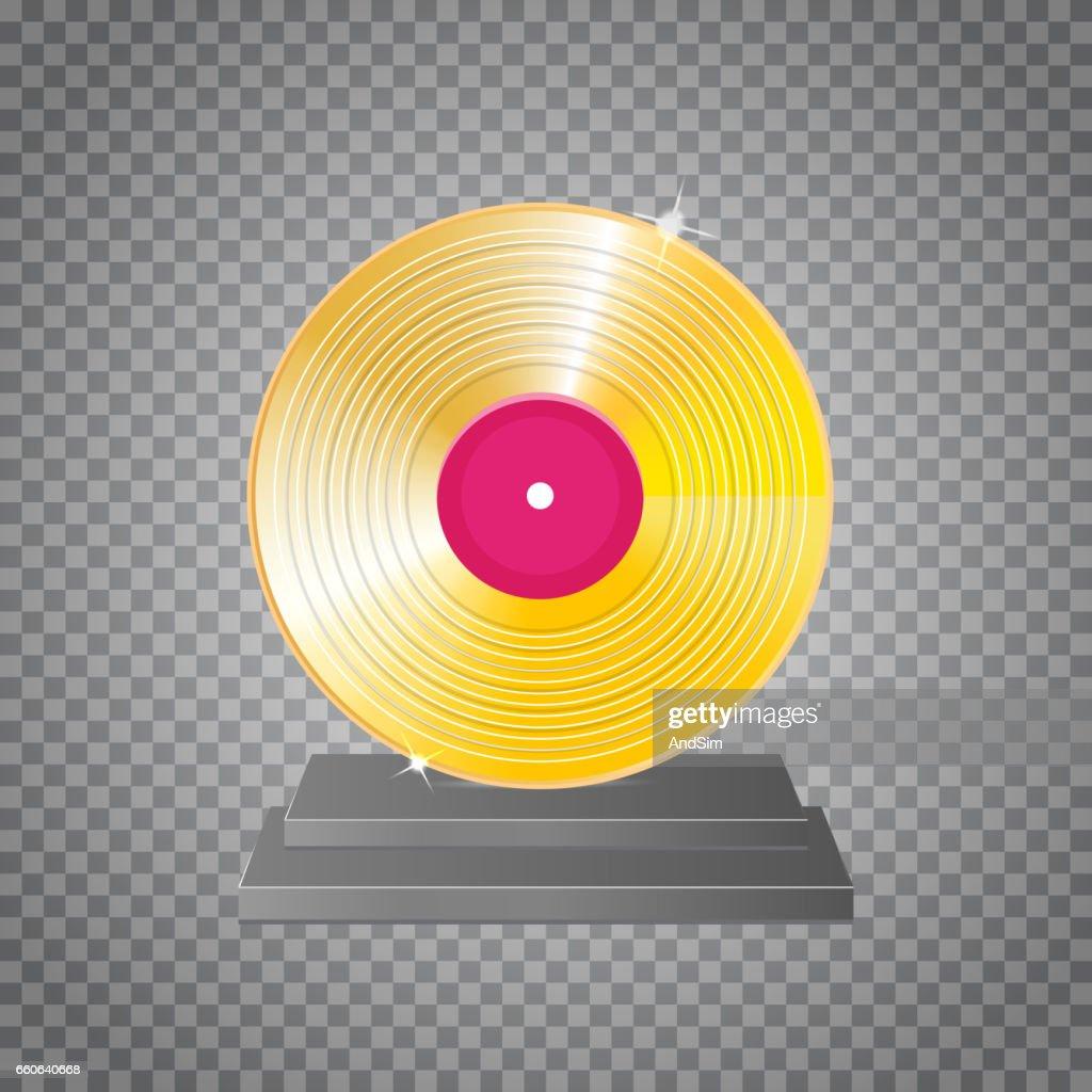 golden vinyl lp gold template design element ベクトルアート getty