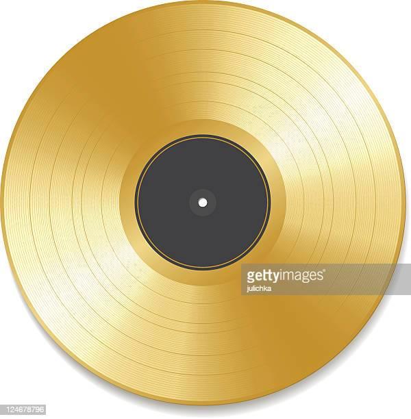 ゴールドの記録 - アナログレコード点のイラスト素材/クリップアート素材/マンガ素材/アイコン素材